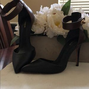 Authentic Coach heels; black and brown.